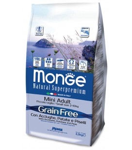 Monge Natural Superpremium Grain free All breeds crocchette con acciughe patate e piselli 12 kg