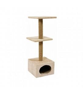 Zolux Tiragraffi per gatti albero duo con casetta 30x30x83h beige