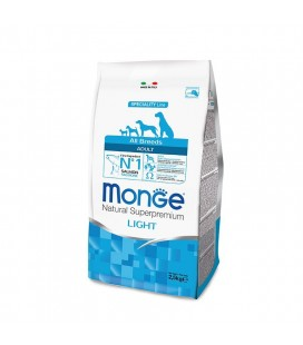 MONGE ALL BREEDS LIGHT SALMONE/RISO 12 kg