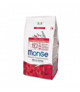 MONGE MINI PUPPY & JUNIOR RISO E POLLO 800g