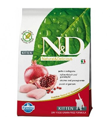 Farmina n&d grain free gatto kitten pollo e melograno 1,5 kg
