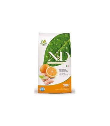 Farmina N&D Adult Cat Pesce e Arancia 1,5kg Grain Free crocchette gatto