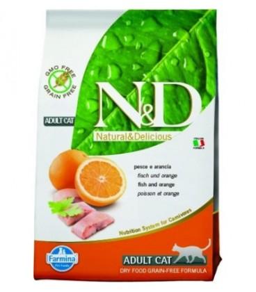 Farmina n&d grain free gatto pesce e arancia 300 gr