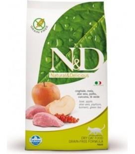 Farmina n&d grain free gatto cinghiale e mela 300 gr