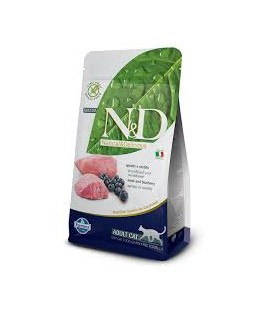 Farmina n&d grain free gatto agnello e mirtillo 300 gr