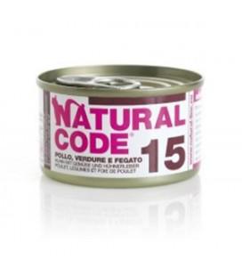 Natural Line Code gatto 15 pollo verdure e fegato gr 85