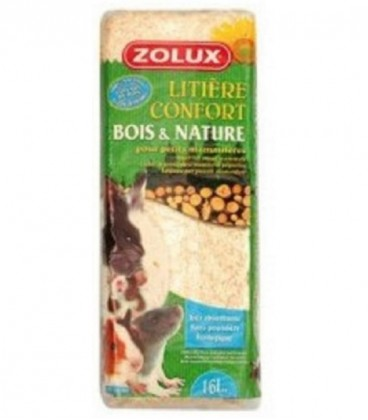 ZOLUX LETTIERA RODY WOOD NATURAL 60/4 KG