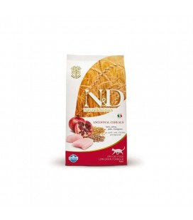 Farmina n&d low grain gatto farro avena pollo melograno 1,5 kg