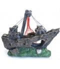 Velma decorazione relitto nave cm 15x6x13