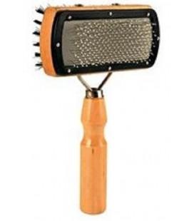 Camillo & co spazzola cardatore doppia in legno