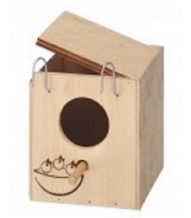 Ferplast nido in legno per pappagallini piccolo