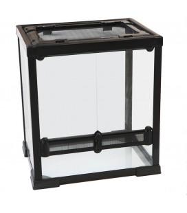 Velma terrario in vetro con tetto in rete 40x30x45h