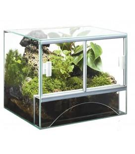 Velma terrario in vetrocon tetto in rete 40x30x45h