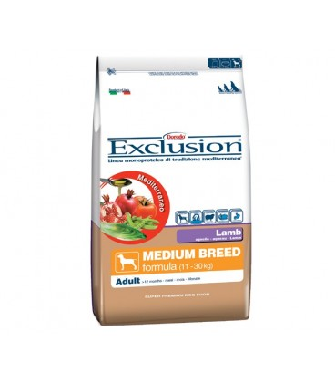 Exclusion Mediterraneo Adult Medium con agnello kg.12.5