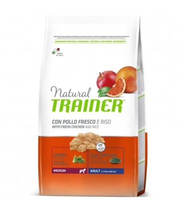 Trainer Natural Dog Medium Adult Prosciutto Crudo, Riso e Pappa Reale 3 kg