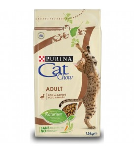 Purina cat chow adult con anatra 1.5 kg