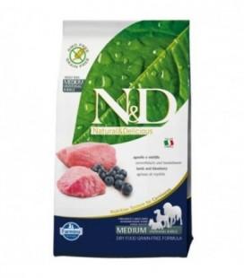 Farmina N & D Grain Free Adult Medium agnello e mirtillo kg.12