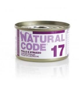 Natural Line Code gatto 17 pollo e struzzo gr 85