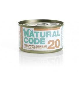 Natural Line Code gatto 20 tonno fagiolini e alghe e riso gr 85