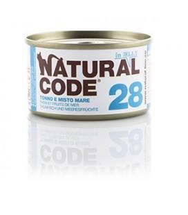 Natural Line Code gatto 28 tonno misto mare in jelly gr 85
