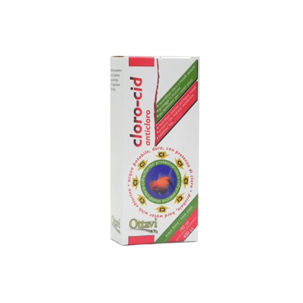 Ottavi clorocid 100 ml anticloro per pesci rossi for Vaschetta pesci rossi offerte