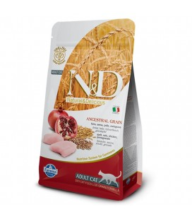 Farmina n&d low grain gatto farro avena pollo melograno 300 gr