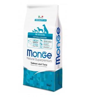 MONGE CANE HYPOALLERGENIC SALMONE E TONNO 2.5 kg