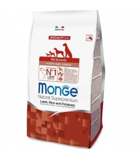 MONGE ALL BREEDS PUPPY AGNELLO, RISO E PATATE 2,5 KG