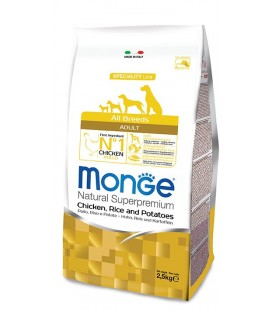 Monge cane adult all breeds pollo riso e patate 2,5 kg